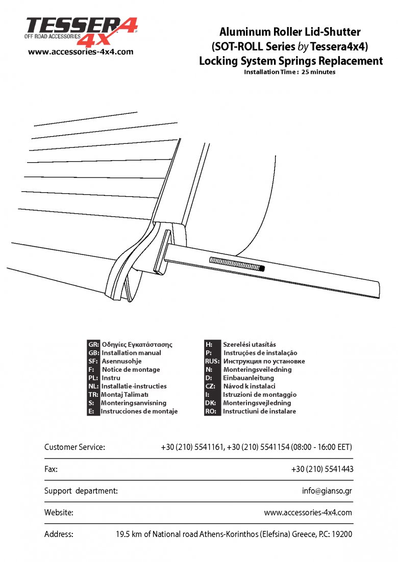 Locking System Springs Replacement Guide